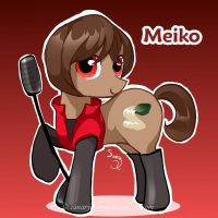 Vocaloid Pony: Meiko by canarycharm