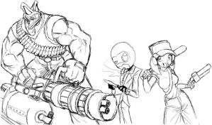 Team fortress sketches 01 by Marauder6272