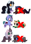 Chibi Pony Halloween Adoptables -Collab- *OPEN* by AsasDebrilho