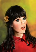 zooey deschanel! by nicholasgwee
