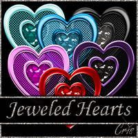 Cris Jeweled Hearts by only1crisana