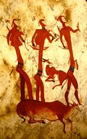San Cave Art Reproduction by Ziali