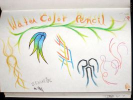 first water color pencils test by Malici0us