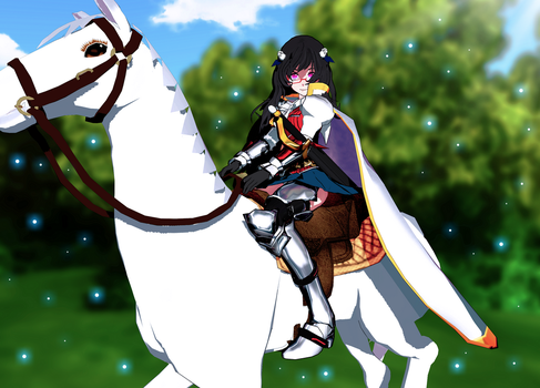 Riding in the park by RaikuHoshigami