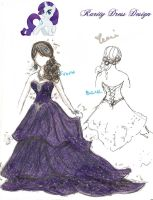Rarity Dress Design by XeMiChan576
