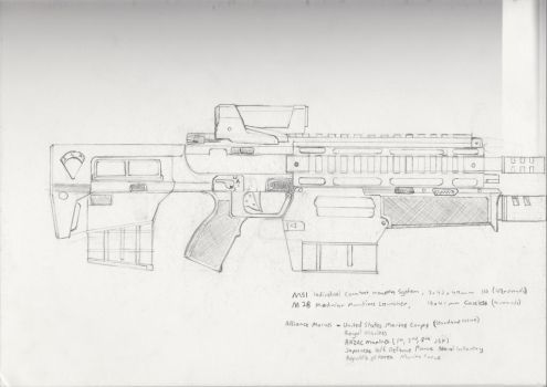 M51 'Needler', M28 Launcher by JordanBookWorm