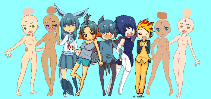 Pokemon Gijinka Collab by raykotaluver