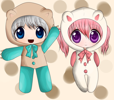 little teddy chibis by chocomax