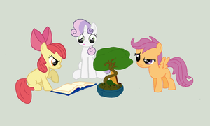 CUTIE MARK CRUSADERS: BONSAI TREE CARETAKERS!!! by Elliums