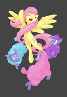 Fluttershy and the Ewes by theinkBot