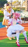 Madoka and Mami by RuffleButtCosplay