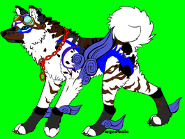 Mystic Wolf Dog Adopt by Ember-Flame007