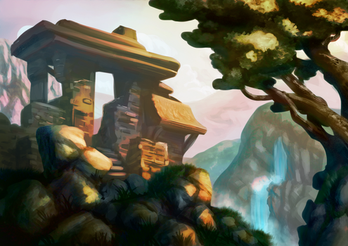 Shrine speedpaint by Extraordered-Gent