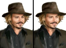Johnny Depp 4- WIP 2 by mel-lyks-cereal