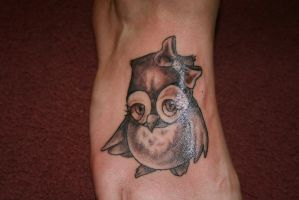 Cute Owl Tattoo by MeghanBeth