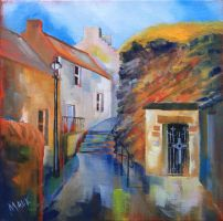 St Fillan's Cave, Pittenweem, Fife by MALKpainting
