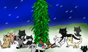 Merry Christmas Moonclan by sparkeythehamster