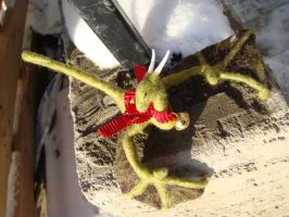 Needle felted Wyvern 2 by Projectsubvert