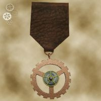 Steampunk Medal 1a by Utinni