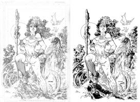 Savageland Rogue inks side by side by iANAR