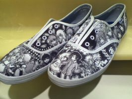 Custom Anime Shoes: 2nd Pair by angelica462