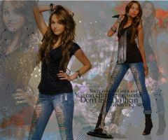 Miley Cyrus Wallpaper by AnniMiley