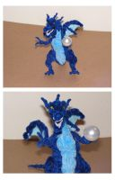 Blue Dragon with a crystal ball by fuzzyfigureguy