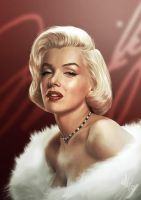 Marilyn's Portrait by gastonzubeldia