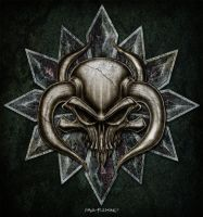 Skull Bull Head Design by Oblivion-design