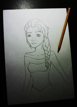 Elsa WIP. by MJSweetDreams