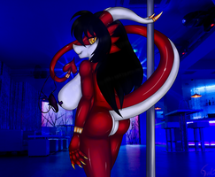 Elena Pole dancer by Perforat