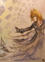 Roxas - Gouache and Ink by HarmoniousReprise