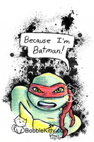 TMNT Postcarts 4 of 4 - BATMAN by resuki