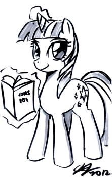 Twilight Sparkle reading Cons 101 by John Joseco by Gamer101-123