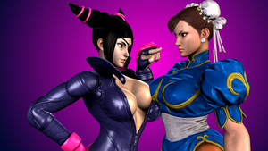 Street Fighter V (12 - Juri and Chun Li) by AdeptusInfinitus