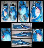 Articuno and Blastoise Shoes by Brokenfeather-san