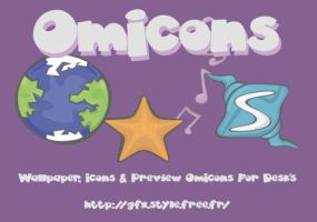 Wallpaper OmIcons by Franatix