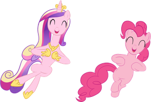 Cadence and Pinkie Pie by xRainbowSugar