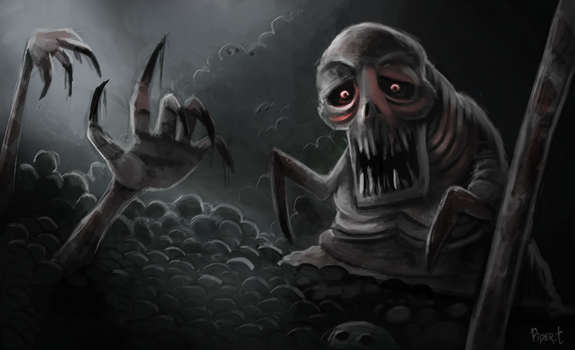 DAY 203. Dead Hand (35 Minutes) by Cryptid-Creations