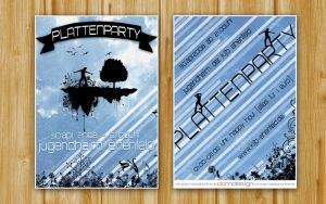 Flyer Plattenparty II by DOMDESIGN