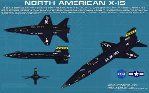 North American X-15A-1 ortho [new] by unusualsuspex