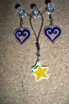 Kingdom Hearts Charm set by TobieJade