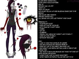 Voodoo Doll Ref sheet ( I Do not own anymore) by lovelymeows