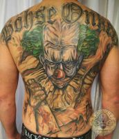 Backpiece clown script BO tat by 2Face-Tattoo