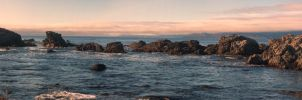 California Tidal Pools Sunset by Bawwomick