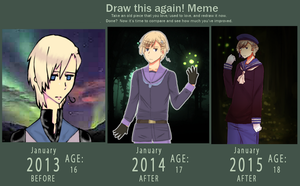Draw This Again Meme - Norway - 2015 by Shiunee