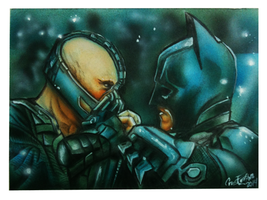 batman vs bane by chrisfurguson