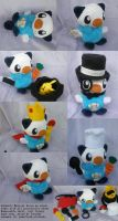 Oshawott Musical Dressup Plush by Glacideas