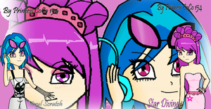 comm: Star Divine and Vinyl Scratch as human by Princess-CoCo-154
