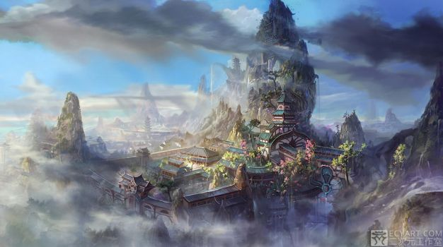Temple in the sky 2 by Ecystudio
